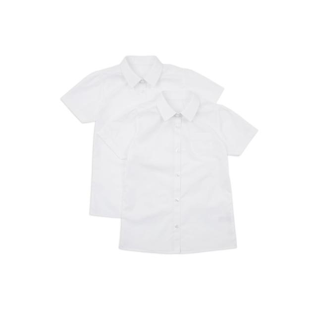 Nutmeg Girls White Short Sleeve Shirts