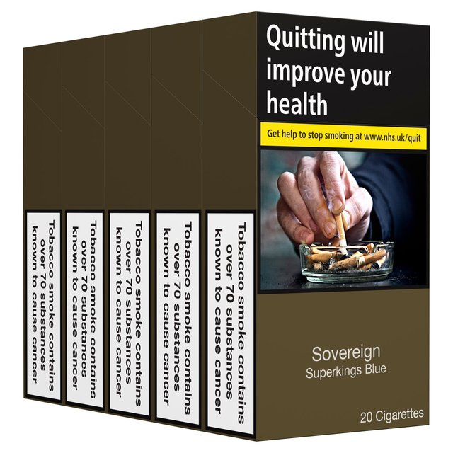 Sovereign Superkings Blue Cigarettes