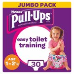 Huggies Pull Ups Day Time Girl 1 - 2.5 Years Potty Training 30 Pants