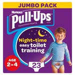 Huggies Pull Ups Night Time Boy 2 - 4 Years Potty Training 23 Pants