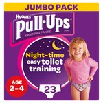 Huggies Pull Ups Night Time Girl 2 - 4 Years Potty Training 23 Pants