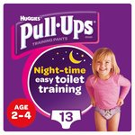 Huggies Pull Ups Night Time Girl 2 - 4 Years Potty Training 13 Pants