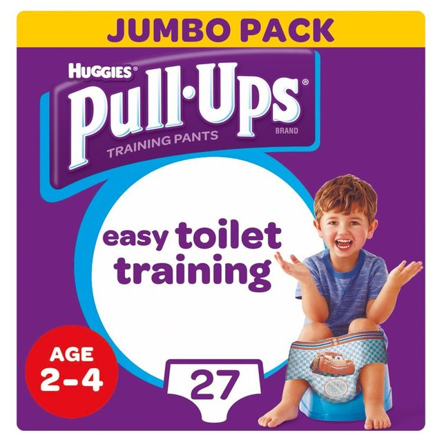 Huggies Pull Ups Day Time Boy 2 - 4 Years Potty Training 27 Pants