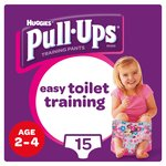 Huggies Pull Ups Day Time Girl 2 - 4 Years Potty Training 15 Pants