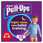 Huggies Pull Ups Night Time Boy 2 - 4 Years Potty Training 13 Pants