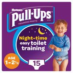 Huggies Pull Ups Night Time Boy 1 - 2.5 Years Potty Training 15 Pants