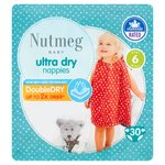 Nutmeg Ultra Dry Nappies Size 6