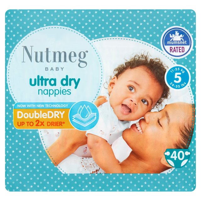 Nutmeg Ultra Dry Nappies Size 5