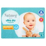 Nutmeg Ultra Dry Nappies Size 4+