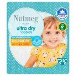 Nutmeg Ultra Dry Nappies Size 6+