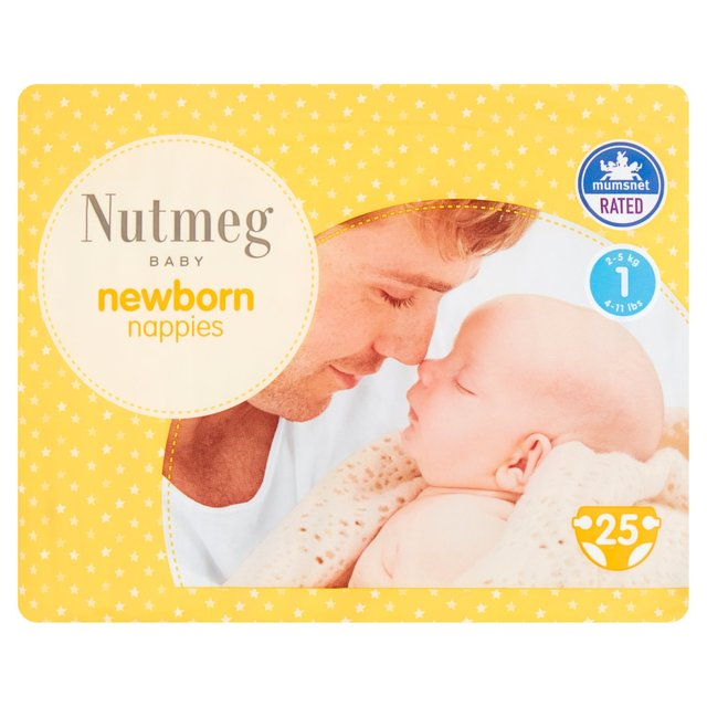 Nutmeg New Baby Nappies Size 1