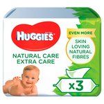 Huggies Natural Care Extra Care With Aloe Vera 3  56 per pack