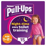 Huggies Pull Ups Night Time Girl 1 - 2.5 Years Potty Training