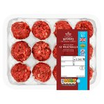 Morrisons 12 Beef Meatballs 5% Fat