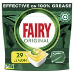 Fairy Original All In One Dishwasher Capsules Lemon