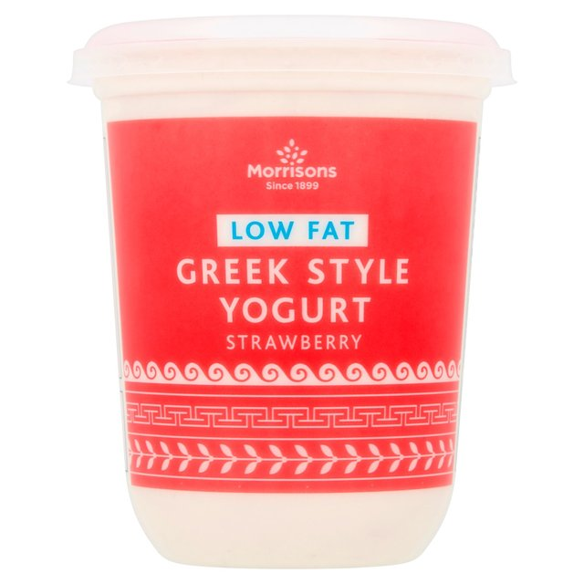 Morrisons Greek Style Strawberry Yogurt