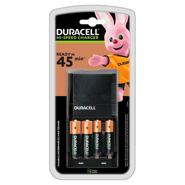 Duracell Hi-Speed Charger Ready in 45min