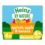 Heinz 4+ Months By Nature Apple, Banana & Apricot