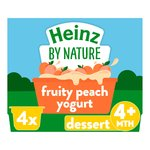 Heinz 4+ Months By Nature Fruity Peach Yogurt