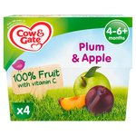 Cow & Gate Apple & Plum From 4 - 6+ Months