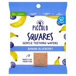 Piccolo Squares Gentle Teething Wafers Banana Blueberry