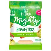 Piccolo Organic Mighty Breadsticks Apple & Cinnamon Textured 1 + Year