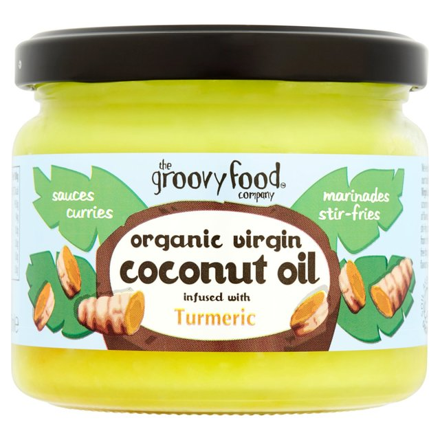 The Groovy Food Company Organic Virgin Coconut Oil Infused With Turmeric