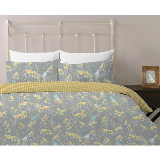 Morrisons Blue Bird Duvet Cover & Pillowcases