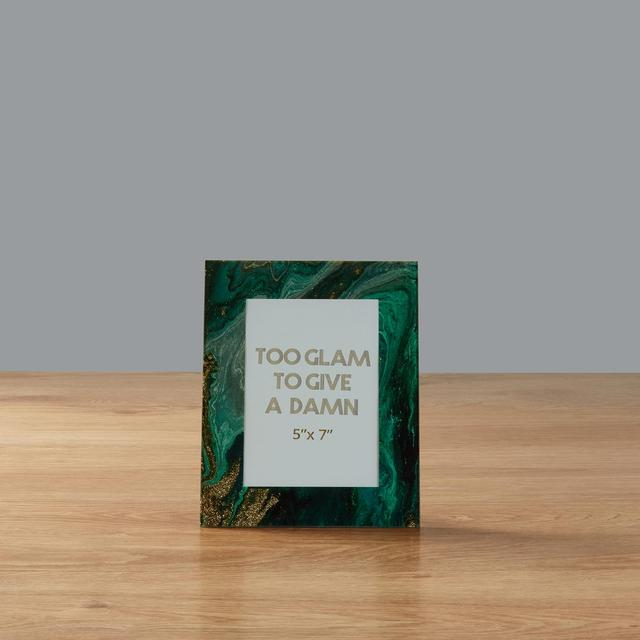 Morrisons Emerald Green Marble Effect Frame 5 X 7