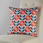 Morrisons Retro Floral Cushion