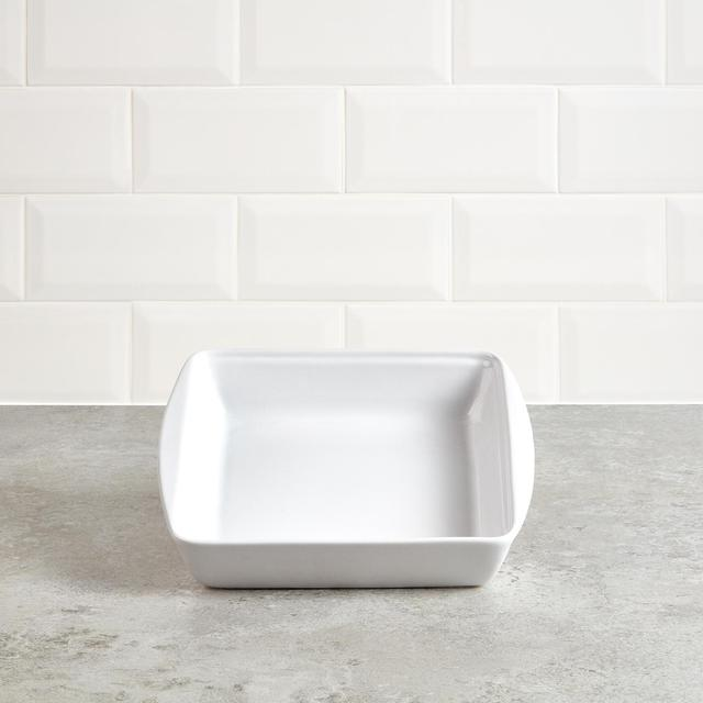 Morrisons White Ceramic Square Roaster 24 Cm
