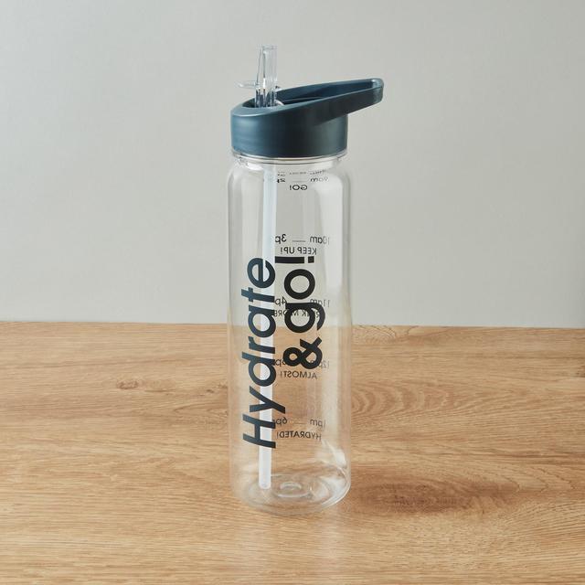 Morrisons Grey Water Tracker Bottle 700Ml