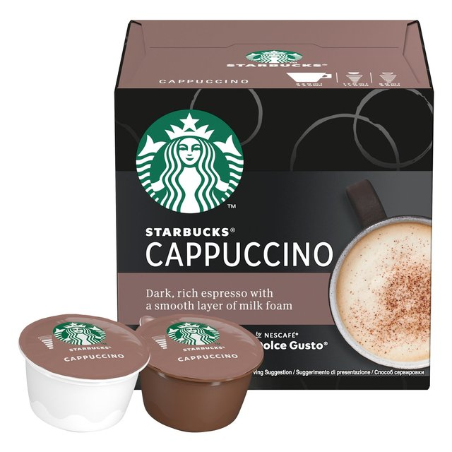 Starbucks Cappuccino by Nescafe Dolce Gusto Coffee Pods x 6