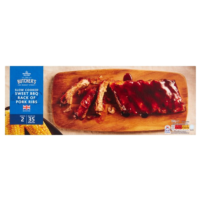 Morrisons Slow Cooked Sweet Bbq Rack Of Pork Ribs