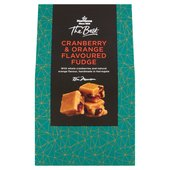 Morrisons The Best Cranberry & Orange Fudge