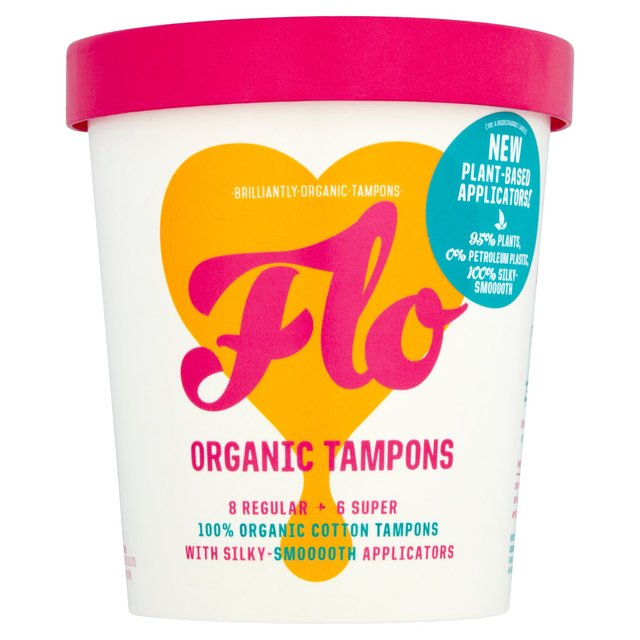 Flo Organic Tampons 8 Regular + 6 Super