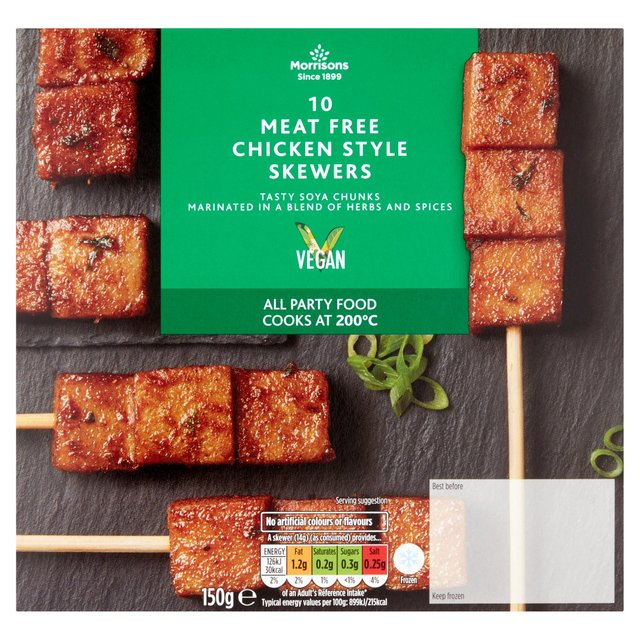 Morrisons Vegan Chicken Style Skewers