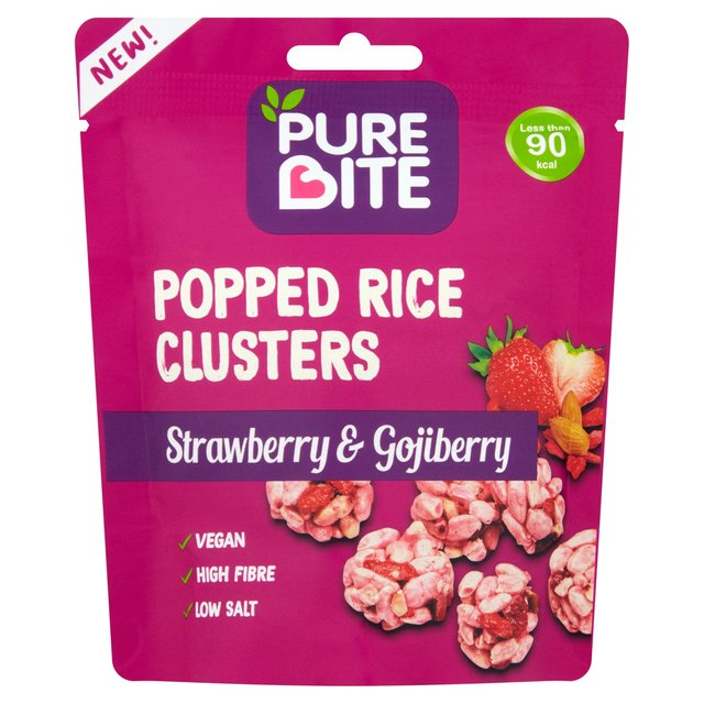 Pure Bite Popped Rice Clusters Strawberry & Gojiberry