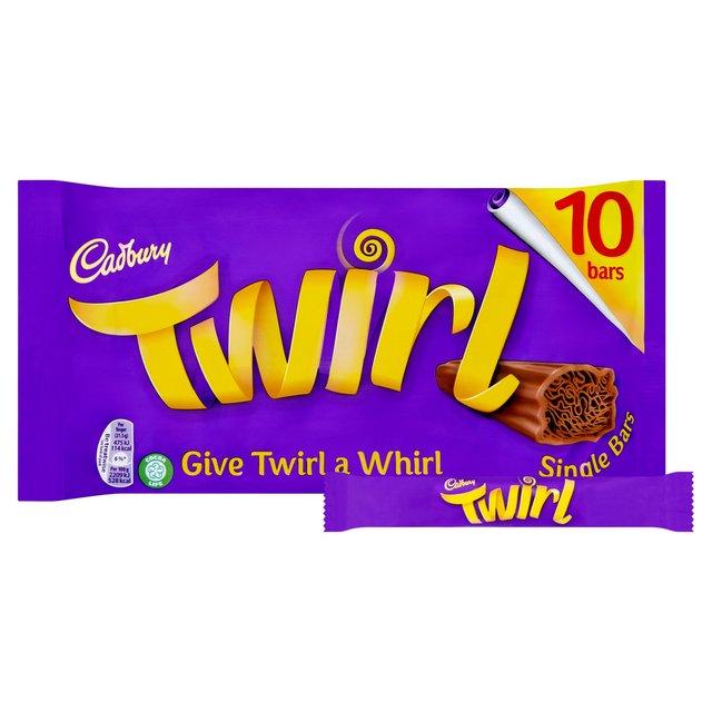 Cadbury Twirl Single 10 Bars