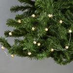 Morrisons Battery Operated 20 Gold Ball Wire Light Chain