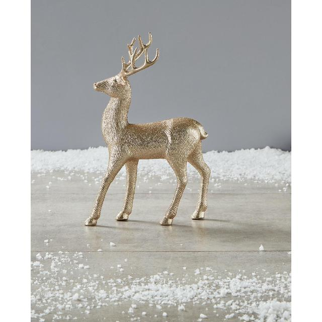 Morrisons Large Gold Glitter Stag