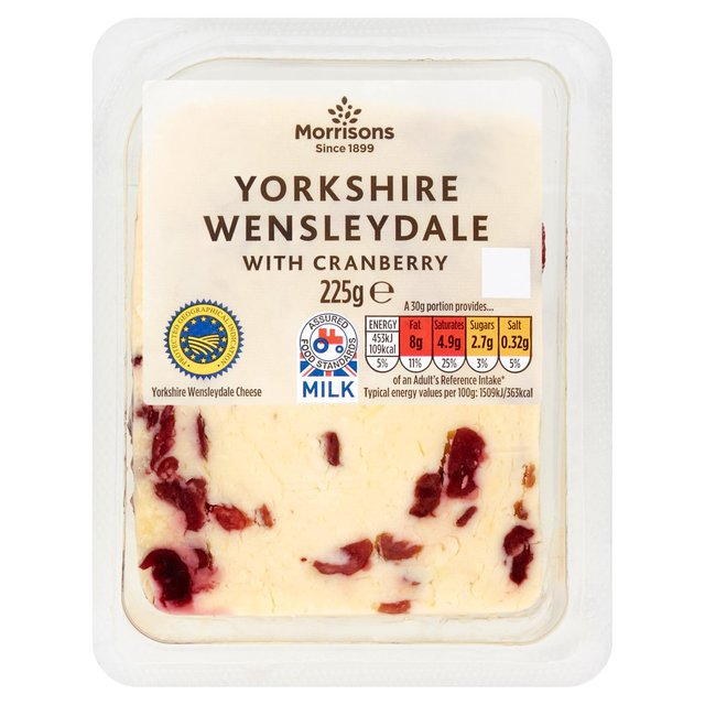 Morrisons Yorkshire Wensleydale With Cranberry