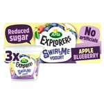 Arla Explorers Swirl Yogurt Apple Blueberry