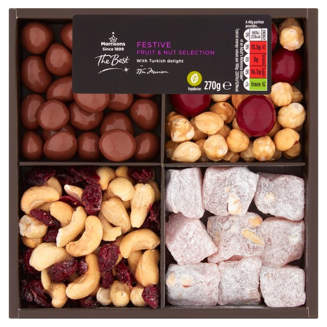 Morrisons The Best Festive Chocolate Fruit & Nut Tray
