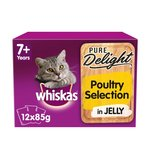 Whiskas Pure Delight Poultry Selection In Jelly 7+ Years