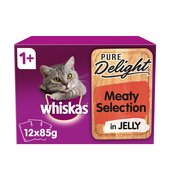 Whiskas Pure Delight Meaty Selection In Jelly 1+ Years