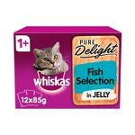 Whiskas Pure Delight Fish Selection In Jelly 1+