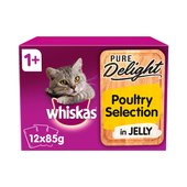 Whiskas Pure Delight Poultry Selection In Jelly 1+