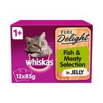 Whiskas Pure Delight Fish & Meaty Selection In Jelly 1+