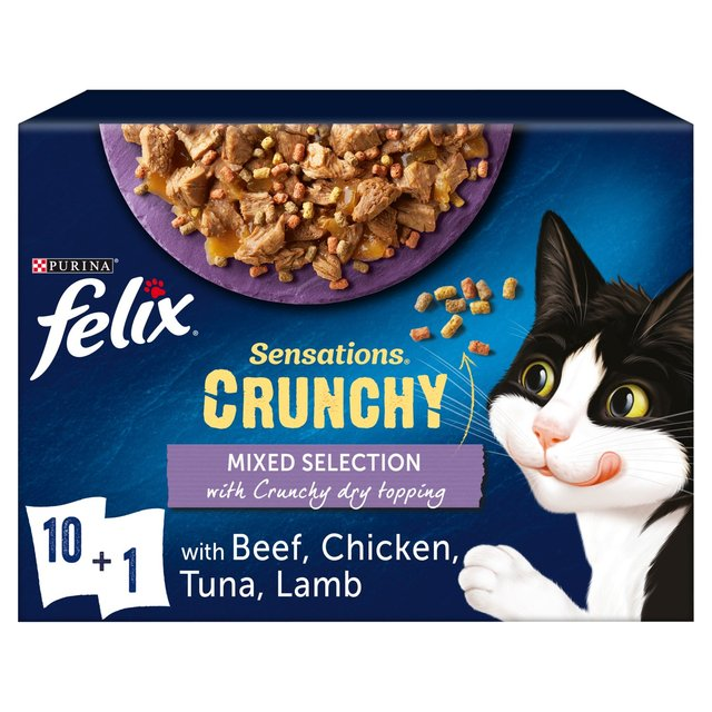 Felix Sensations Crunchy Crumbles Beef